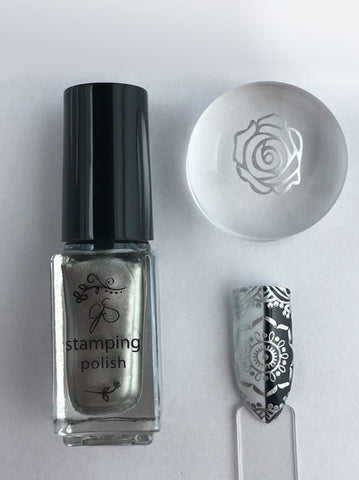#45 Molten Alloy - Nail Stamping Color