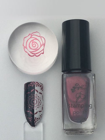 #55 Pomegranate Pop - Nail Stamping Color