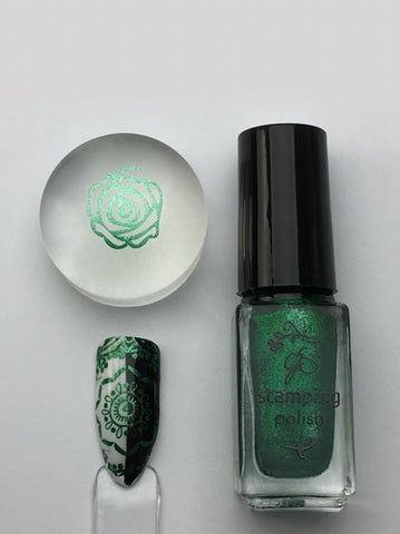 #61 Glitzy Evergreen - Nail Stamping Color