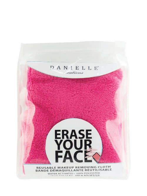 Erase your face cloth pink