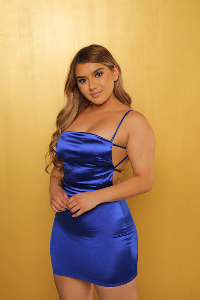Silk Dress (Royal Blue)