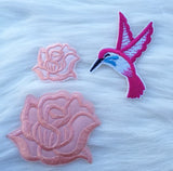 Pink Rose Patch Set