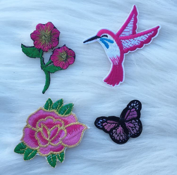 Pink Butterfly Patch Set