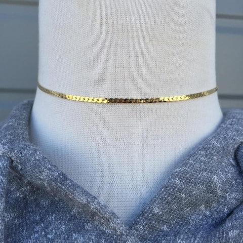 Thin Gold Choker