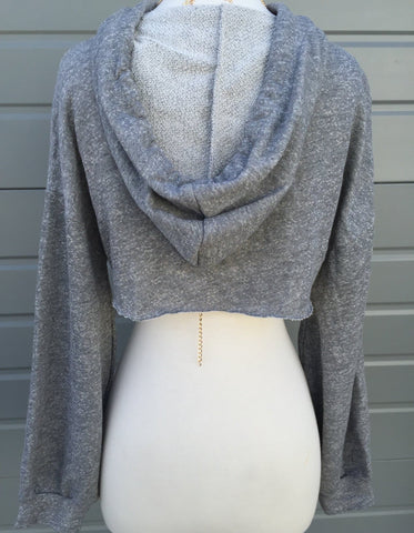 Cardi Cut Out Hoodie (Heather Gray)