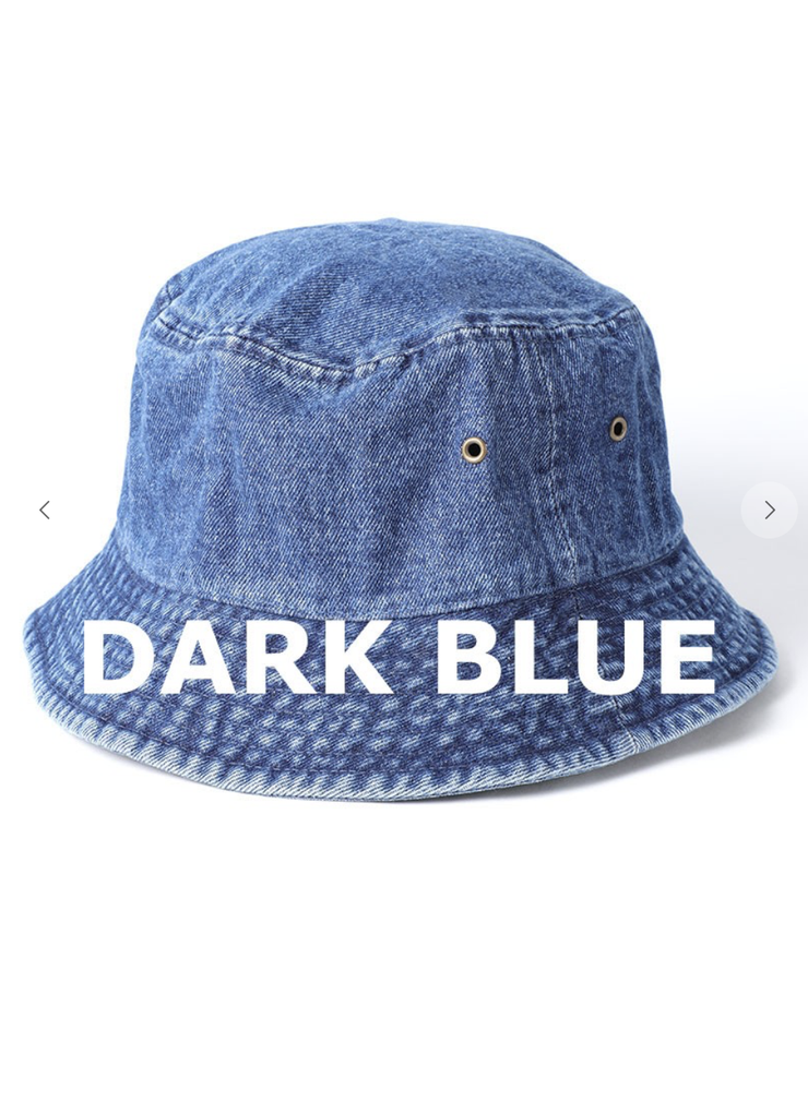 Denim Bucket Hat (Dark Blue)