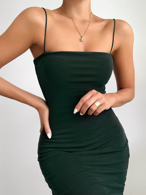 Lily Double Layered Tank Dress (Green)