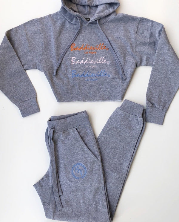 BV Jogger Set (Hoodie Set/Heather Gray)