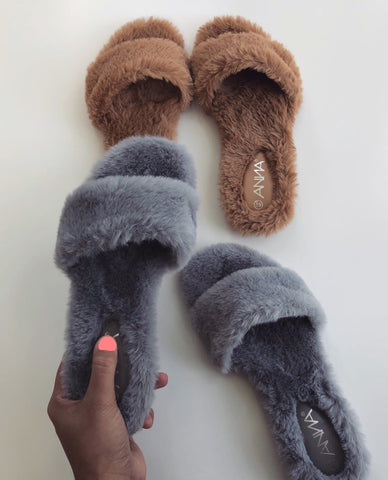 The Faux Fur Slipper