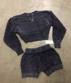 Cozette Sweater Set (Charcoal)