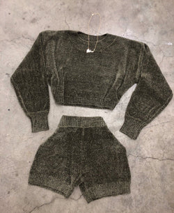 Cozette Sweater Set (Olive)