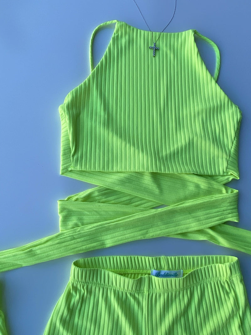 Kendra Set (Neon Lime)