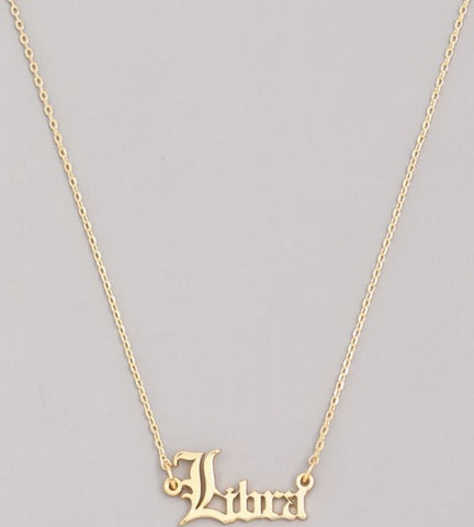 Zodiac Necklace (Old English)