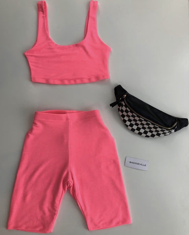Neon Pink Two Piece