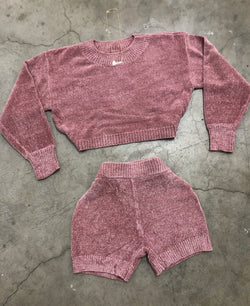 Cozette Sweater Set (Mauve)