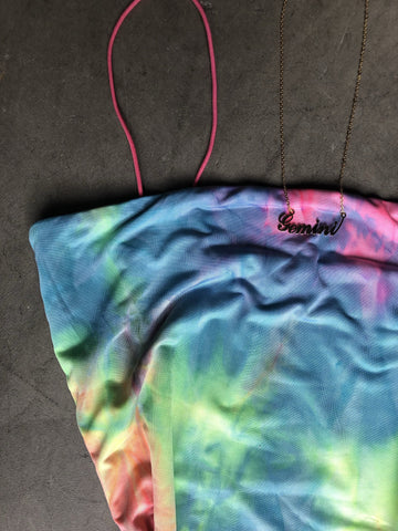 Pink Tie Dye Dress (Double Layered)
