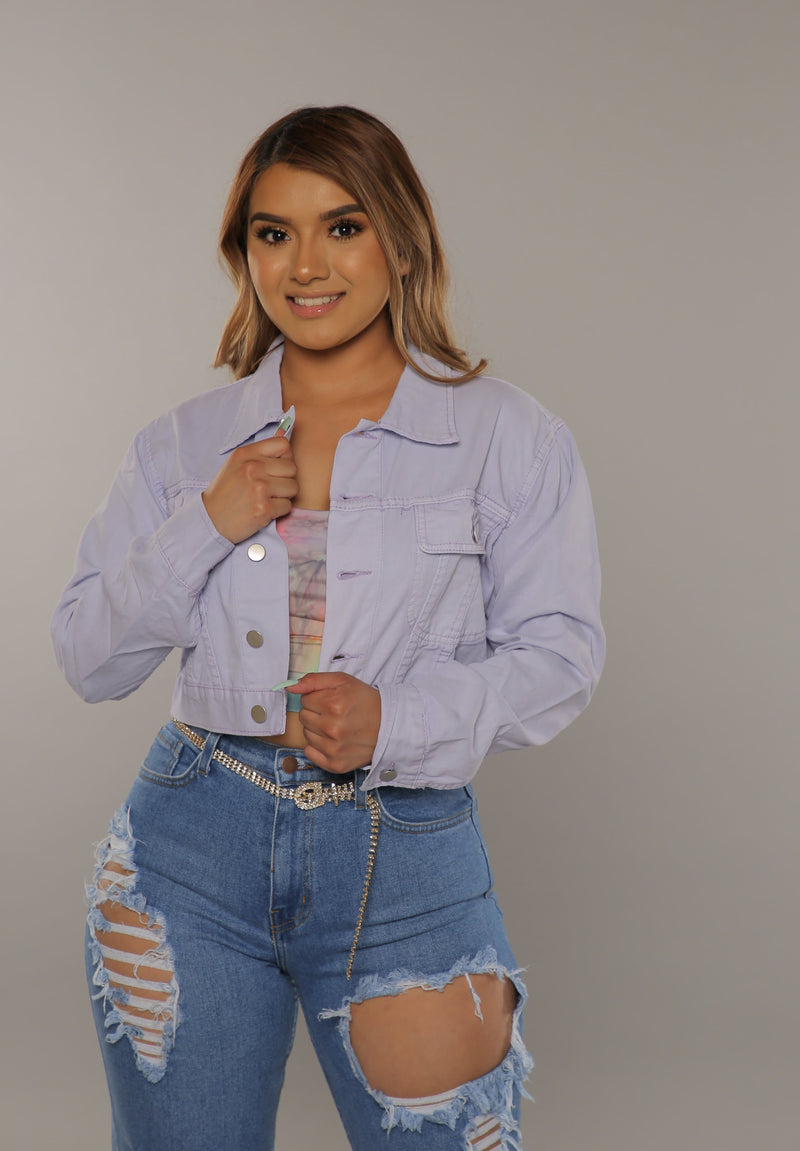 Cropped Jacket (Lavender)