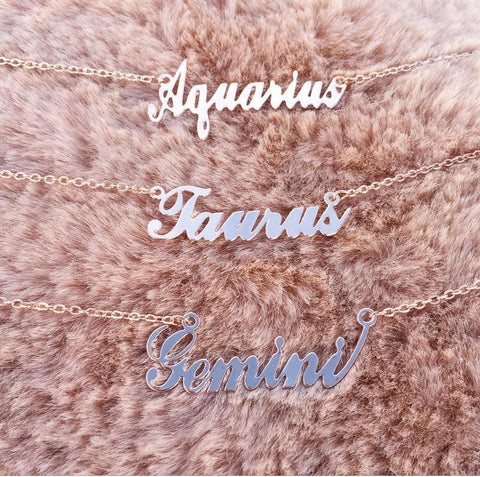 Zodiac Necklace (ROSEGOLD)