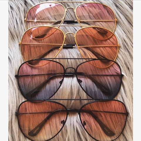 Two- Toned Aviator Sunnies