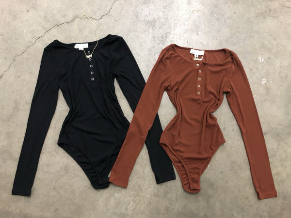 Noemi Ribbed Bodysuit (Copper)