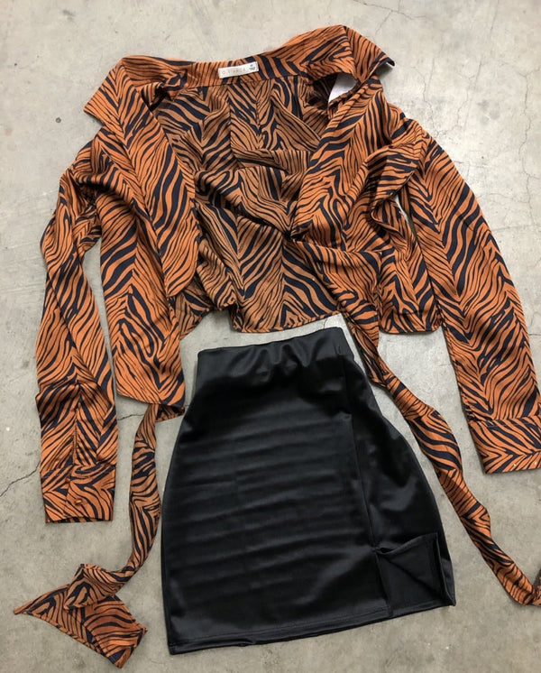Zebra Knot Top (Copper)