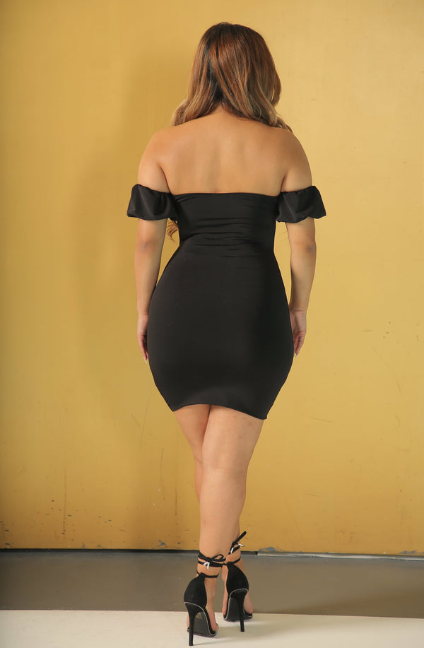 Britney Bardot Dress (Black)