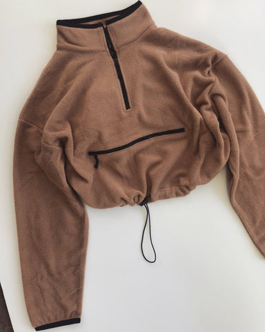 Crop Sweater- Camel