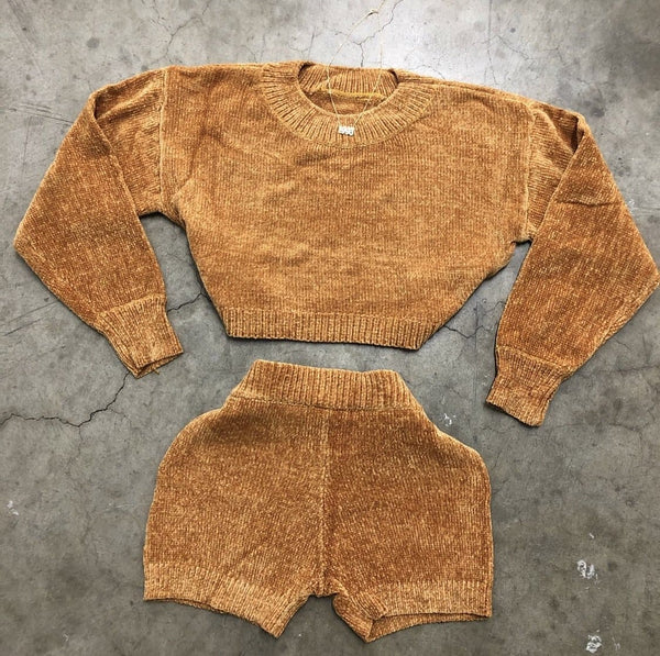 Cozette Sweater Set (Mustard)