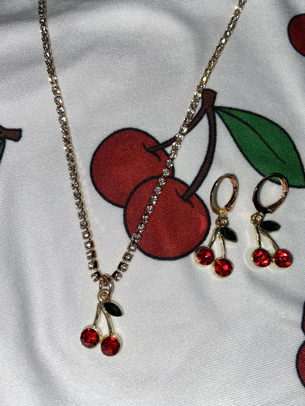 Cherry Jewelry (2pc set)