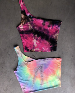 Cold Shoulder Crop (Tie-Dye)