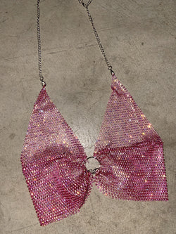 Jewel Halter Top (Ruby Pink)