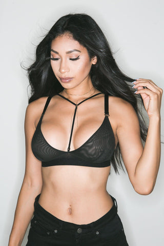 Gigi Sheer Bralette (Black)