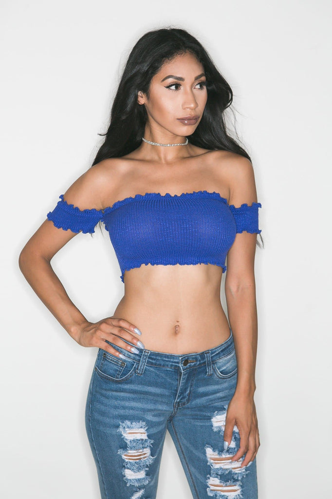 Flirty Cold Shoulder (ROYAL BLUE)