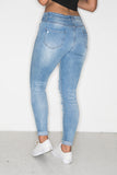 Light Low Rise Distressed Jeans
