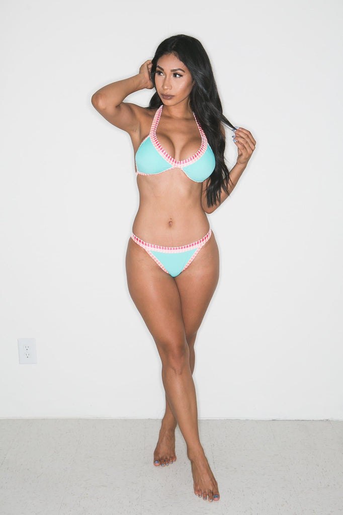 Demi Crochet- Trim Bikini (Mint)