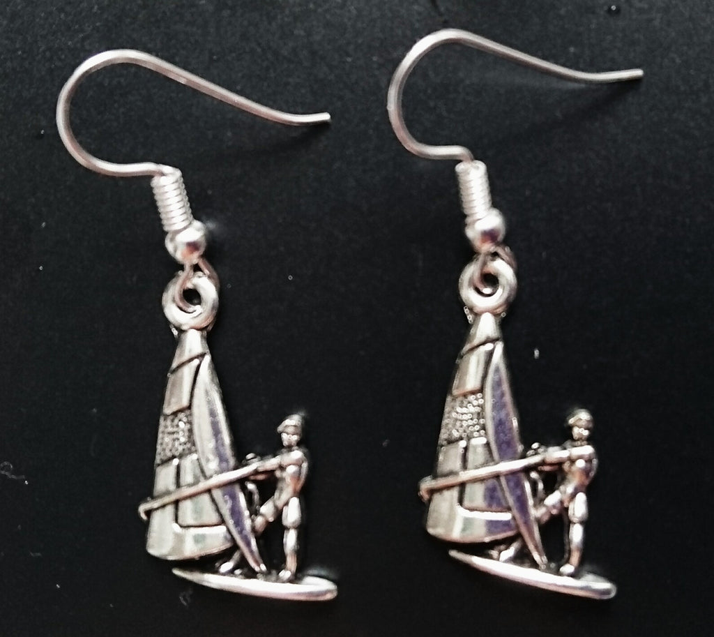 Windsurfer Earrings 100% Silver