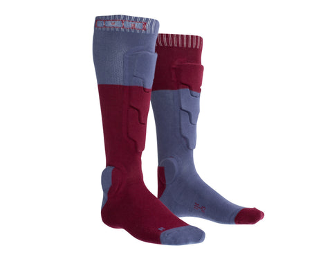 ION MTB Shin Protection BD Socks Combat Red