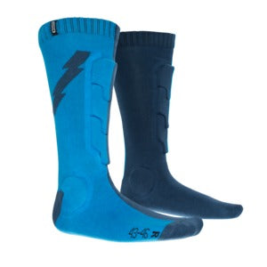 ION MTB Shin Protection BD Socks Blue