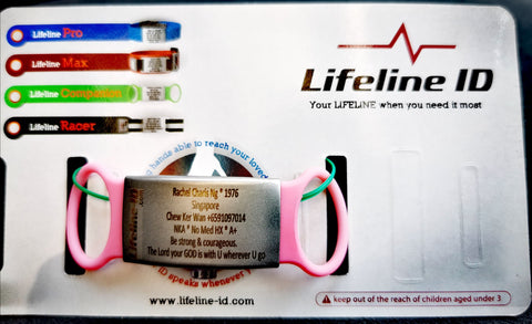 Lifeline ID Safety Watch Tag for Athletes