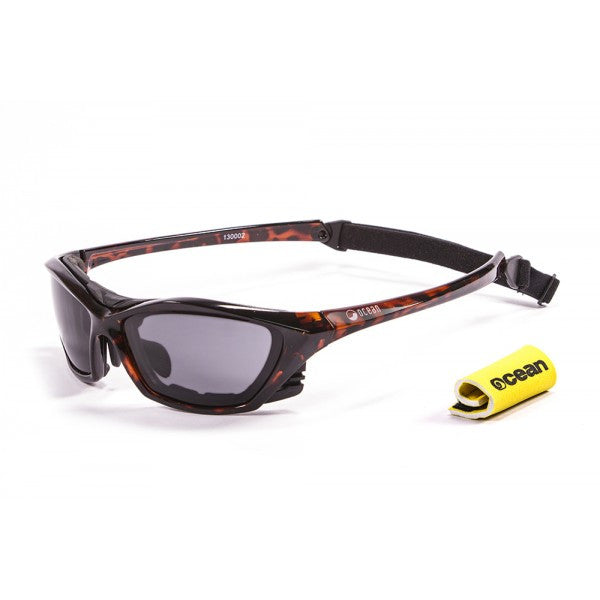 Ocean Lake Garda Polarised Sunglasses Brown with Dark lens