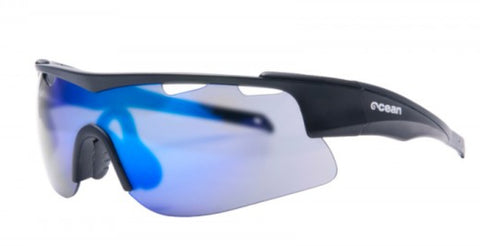 Ocean Alpine Triathlon/Cycling/General Sports (Black frame/Blue Lens) Polarised Sunglasses