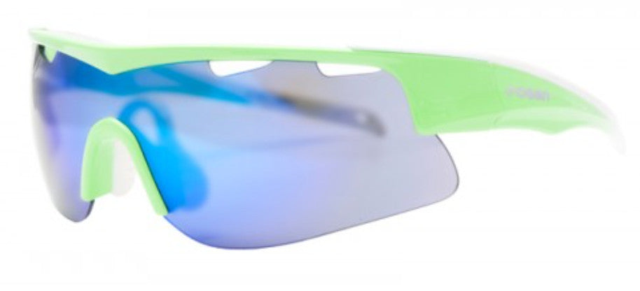 Ocean Alpine Triathlon/Cycling/General Sports (Light Green/Blue Lens) Polarised Sunglasses