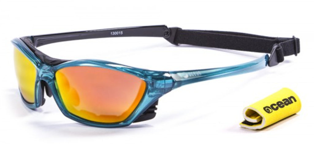 Ocean Lake Garda Polarised Sunglasses - Blue with Revo lens