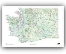 Load image into Gallery viewer, Outdoor Project Washington Wall Map
