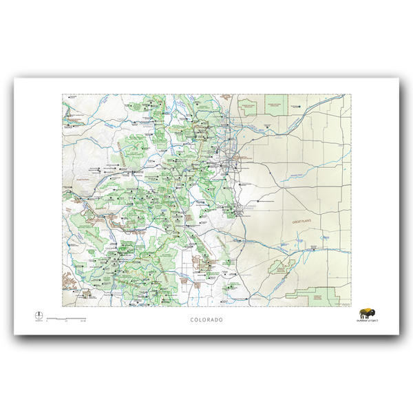 Outdoor Project Colorado Wall Map