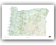 Load image into Gallery viewer, Outdoor Project Oregon Wall Map