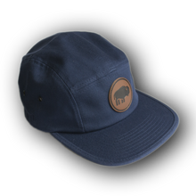 Load image into Gallery viewer, Outdoor Project Navy Five-Panel Cap with Leather Patch