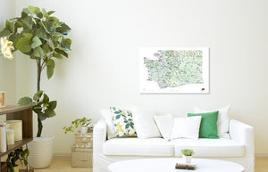 Outdoor Project Washington Wall Map