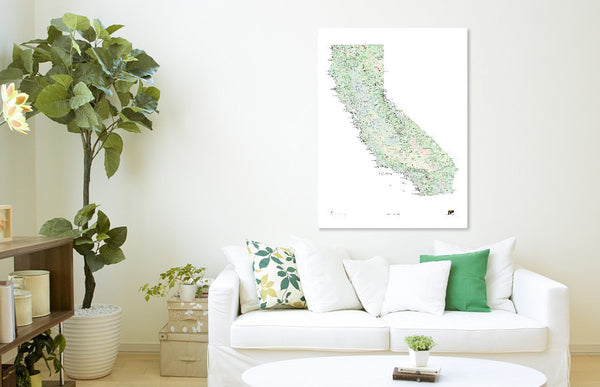 Outdoor Project California Wall Map