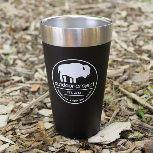Outdoor Project + Stanley Insulated Pint - Black w/ Bison